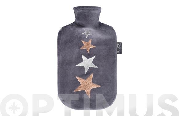 Bolsa agua caliente 2 lt inolora terciopelo estrellas