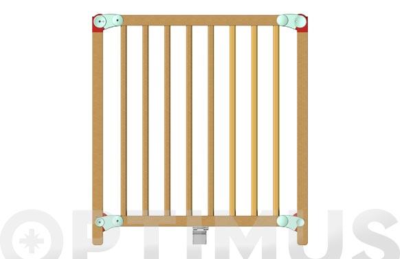 Valla seguridad infantil presion lena 74 - 82 cm madera barnizada