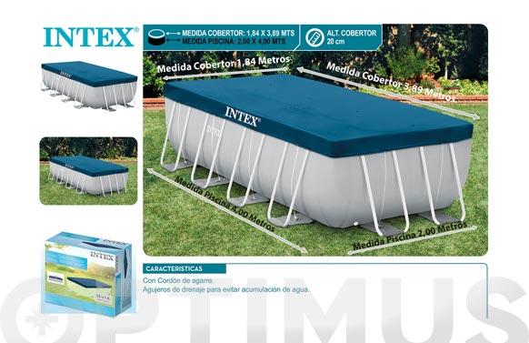 Cubierta piscina rectangular prism frame 28316 4 x 2 m (para piscina 9688965) re