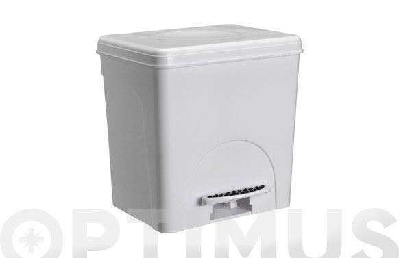 Cubo pedal zen blanco 8 l