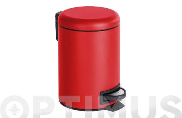 Cubo de pedal leman rojo 3 l