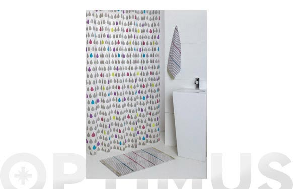 Cortina baño peva drop 1.80 x 2.00 m