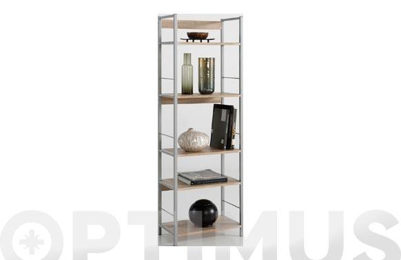 Estanteria kala 52 metal/madera 150 x 52 x 30 cm