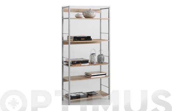 Estanteria kala 74 metal/madera 150 x 74 x 30 cm