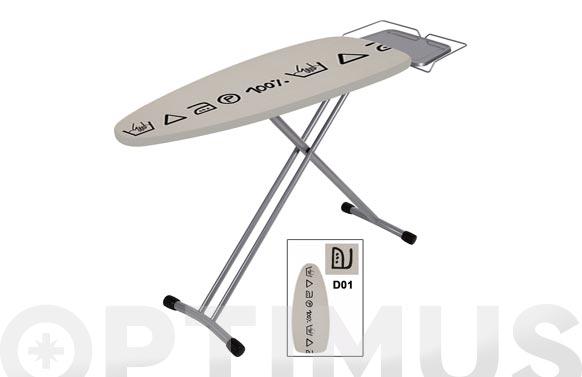 Tabla planchar 124x40cm centro planchado homie pro metal-blanca