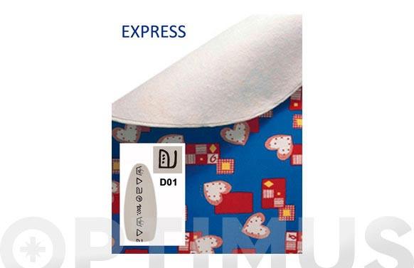 Funda mesa planchar express blanca simbolos negros
