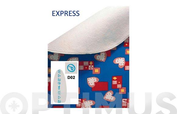 Funda mesa planchar express blanca simbolos azules