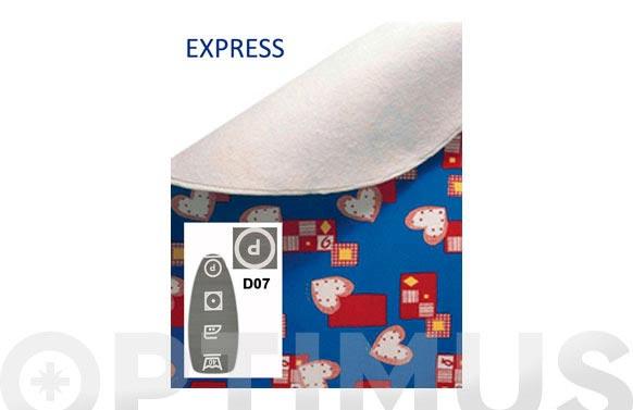 Funda mesa planchar express gris simbolos blancos