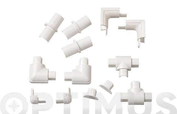 Accesorios semicircular blanco 16 x 8