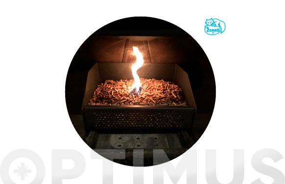 Cesta quemador pellets 30 x 25 x 17 cm