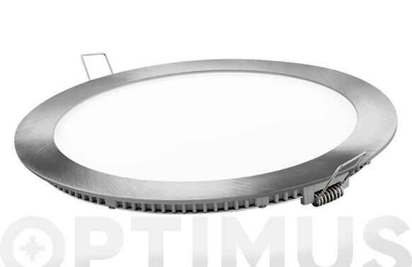 Downlight led empotrar plata redondo 18 w 1800 lm fria (6400k)