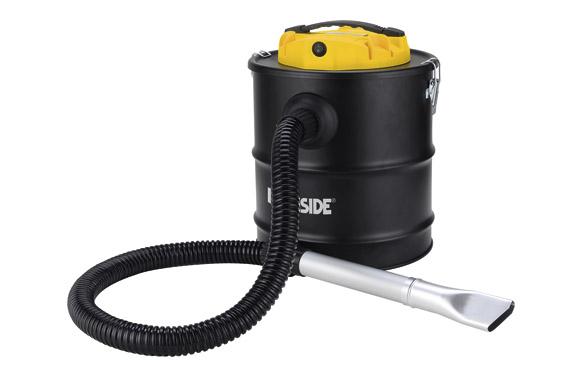 Aspirador soplador de cenizas calientes 1200 w 20l tubo 120 cm con boquilla