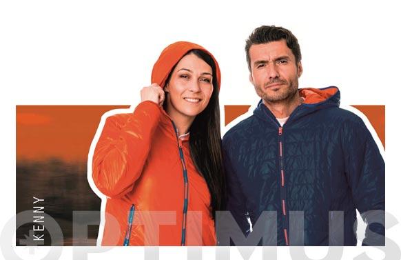 Cazadora kenny reversible azul/naranja talla s
