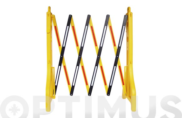 Valla extensible plástica 90 x 25 cm, extendida 250 cm