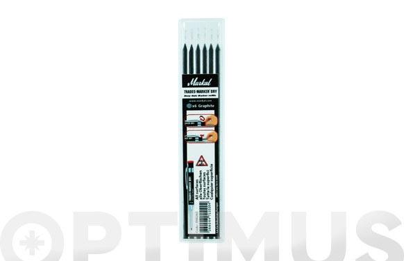 Mina recambio lapiz marcador 9688405 (6 unidades) grafito
