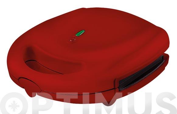 Sandwichera placas desmontables rojo sandwich/grill