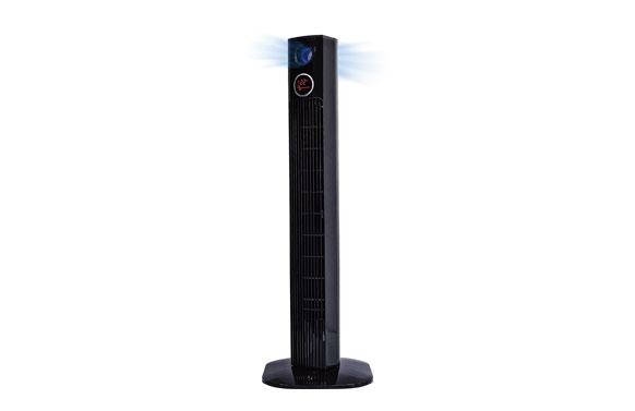 Ventilador torre 45w h96cm luz temporizador 2h negro