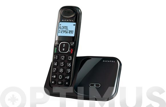 Telefono inalambrico dect teclas grandes negro