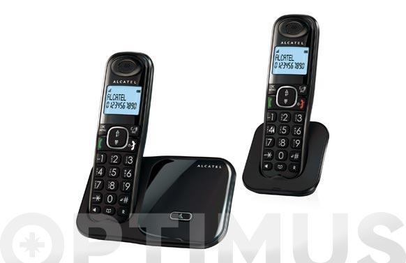 Telefono inalambrico dect teclas grandes duo-negro