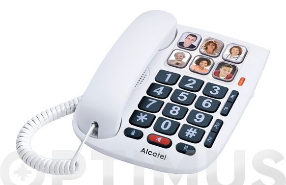 Telefono fijo teclas grandes memo dr blanco
