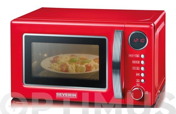 Horno microondas con grill 20 l rojo