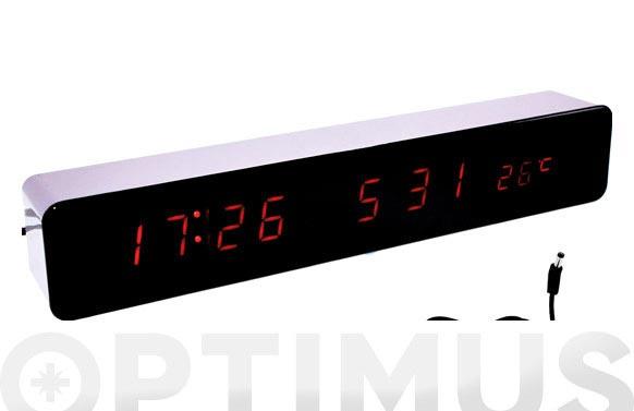 Reloj despertador led 30 x 5 x 4