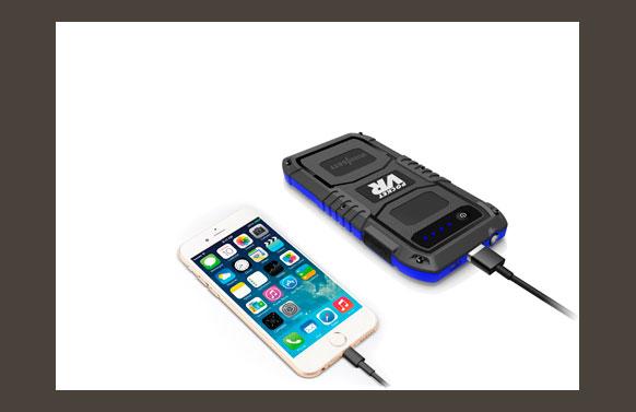 """Arrancador bateria + cargador multifunción """"pocket bateria: 4000 mah, corriente arranque: 200 a"""