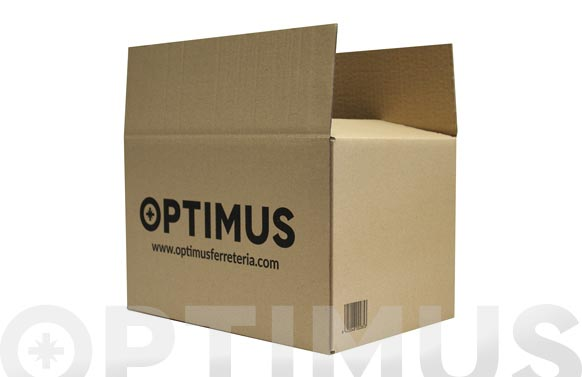 Caja carton embalar marron optimus 23 x 17 x 11 cm