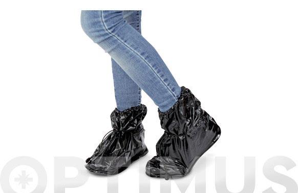"""Protector de calzado impermeable 25 cm. negro tamaño """"s"""" talla: 36 - 39"""