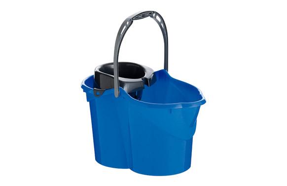 Cubo con escurridor azul 15 l