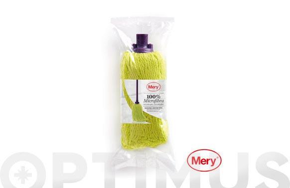Fregona microfibra eco lila/lima 128 gr 22 cm