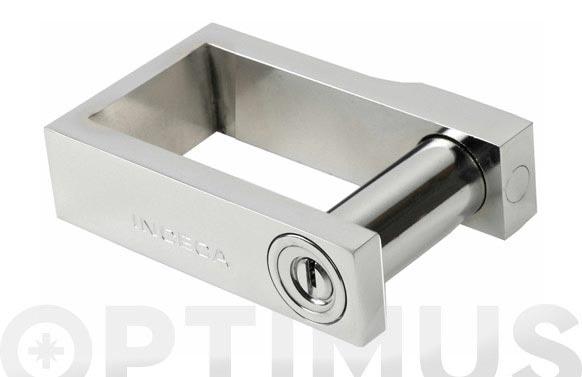 Dispositivo abrazadera puertas ballesta 215/56x65 cromo llave in5