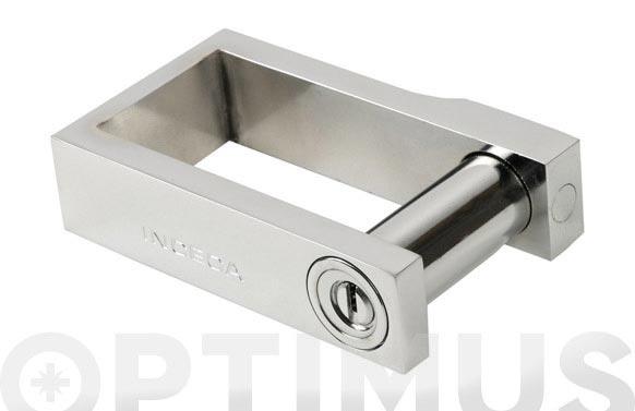 Dispositivo abrazadera puertas ballesta 216/56x95 cromo llave in5