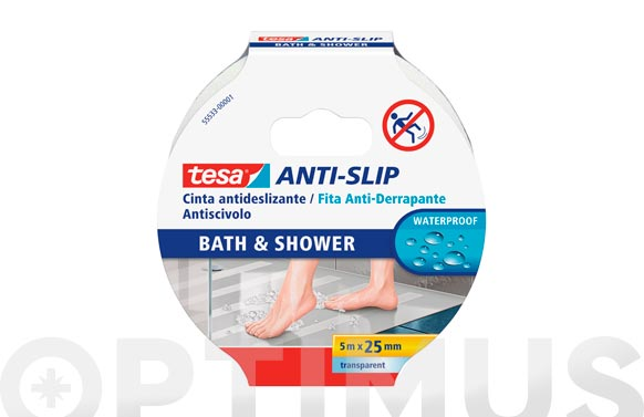 Cinta antideslizante baño anti-slip transparente 5 m x 25 mm