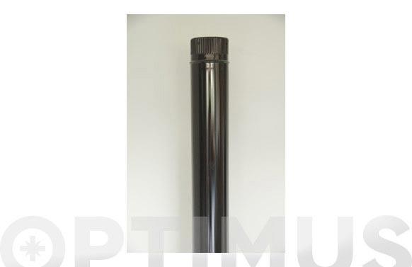 Tubo liso vitrificado negro chimenea ø110 x 1mt