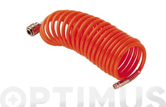 Manguera espiral nylon 6 x 8 mm 5 m