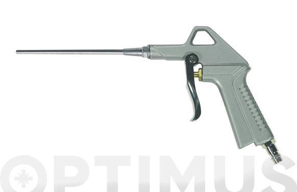 Pistola soplado neumatica boquilla larga