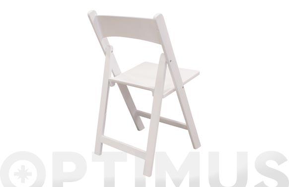 Silla plegable resina white