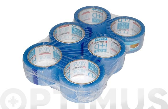Cinta embalar gama azul transparente 132 m x 48 mm