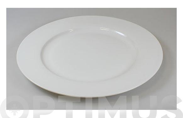 Plato porcelana blanca open llano 27 cm