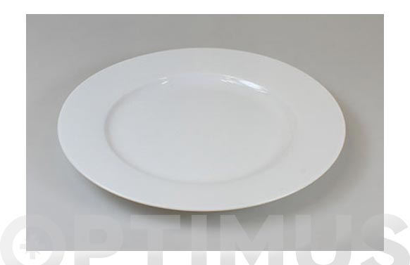 Plato porcelana blanca open postre 20 cm
