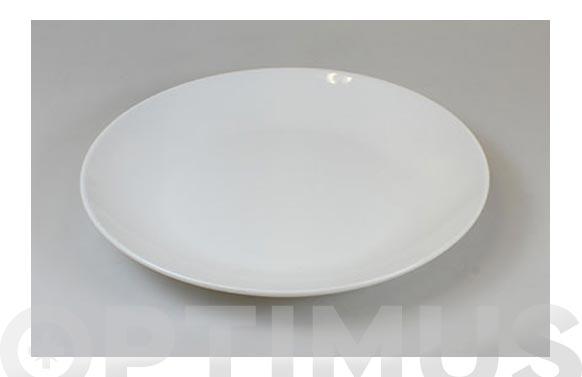 Plato porcelana blanca coupe postre 20,5 cm