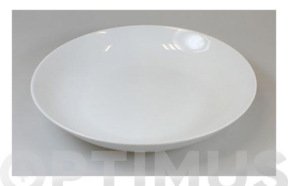 Plato porcelana blanca coupe hondo 23 cm