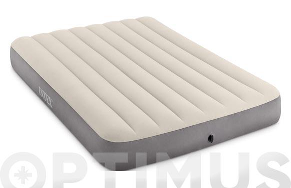 Colchon-cama hinchable doble fiber tech 137 x 191 x 25 cm