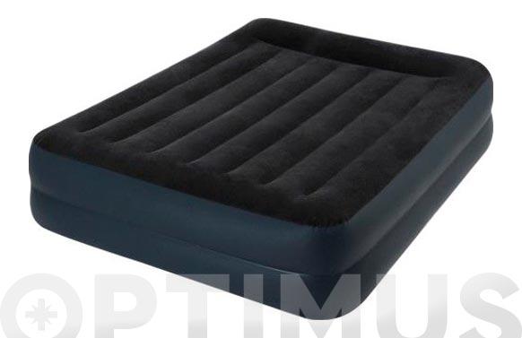 Colchon-cama hinchable doble con inflador fiber tech 152 x 203 x 42 cm