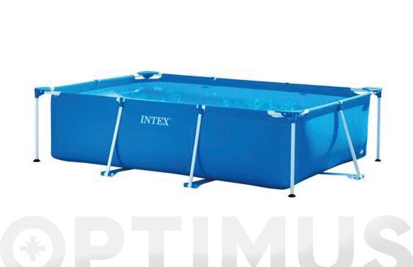Piscina desmontable rectangular tubular frame 300 x 200 x 0.75cm 3.834lt