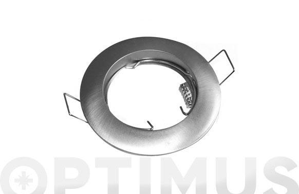 Aro circular fijo niquel mate (gu10 incl)