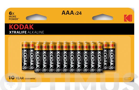 Pila alcalina xtralife lr3 bl24-aaa