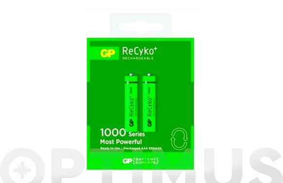 Pila recargable recyko (bl.2) lr3 aaa 1000mah