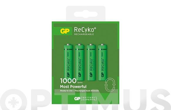 Pila recargable recyko (bl.4) lr3 aaa 1000mah
